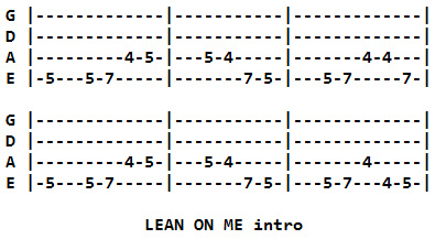 stand by me guitar tab pdf