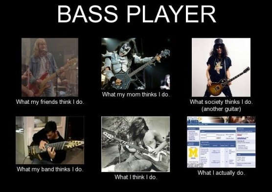 Bass Player - What I Actually Do
