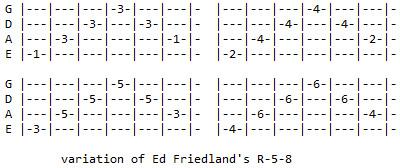 Ed Friedland R-5-8 variation