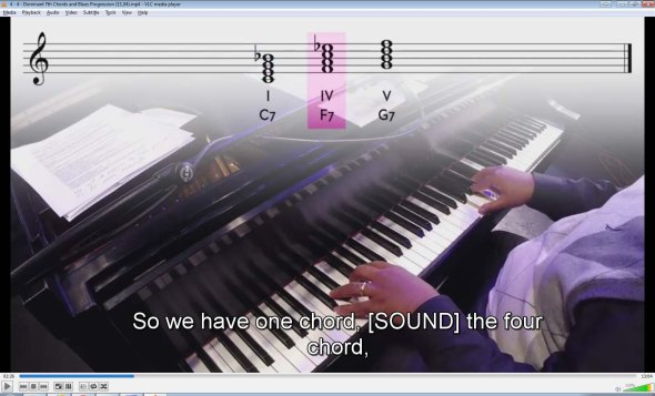 C7 - F7 - G7 (dominant chords)