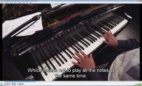Arpeggiate the chords by playing chord tones one at a time