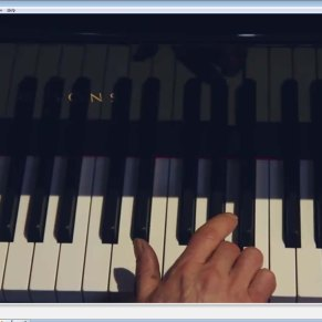 Playing an octave on piano