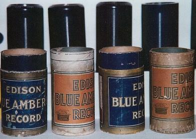 Edison Cylinder Records with Cardboard Storage Tubes