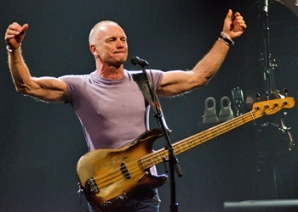 Sting's bass isn't strange at all. That might be the strangest thing here...