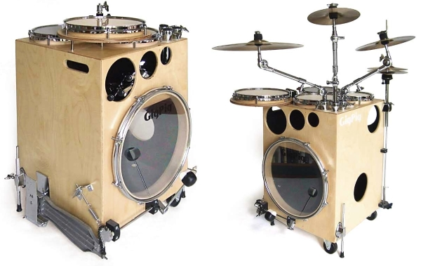 gigpig drum kit percussion box ugly bass face. Black Bedroom Furniture Sets. Home Design Ideas